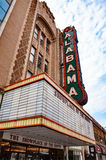 Alabama Theatre. View from under the marquee and neon sign of the historic Alabama Theatre in Birmingham, Alabama. The Alabama Theatre was built in 1927 and is Stock Images
