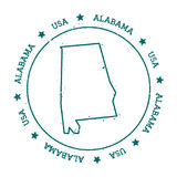 Alabama vektoröversikt Fotografering för Bildbyråer