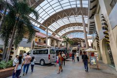 Alabang市中心大厦在马尼拉市 免版税库存图片