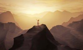 Alabanza de la montaña fotografía de archivo libre de regalías