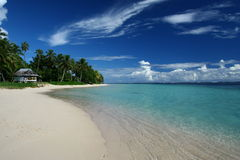 The alabaster beach in Samoa, south pacific Royalty Free Stock Image
