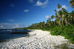 The alabaster beach in south pacific island Royalty Free Stock Photography