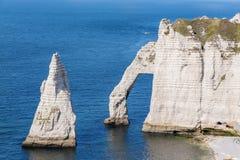 Alabaster coast Normandy Stock Image