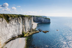 Alabaster coast Normandy Royalty Free Stock Image
