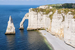 Alabaster coast Normandy Royalty Free Stock Image