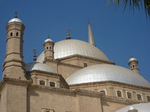 Alabaster Domes of Mohammed Ali Mosque In Cairo Egypt Royalty Free Stock Photo