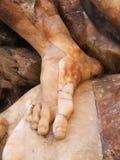 Alabaster Foot Sculpture Stock Photos