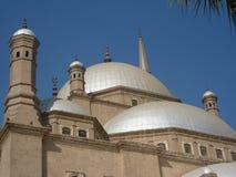 Alabaster- kupoler av Mohammed Ali Mosque In Cairo Egypt Royaltyfri Foto