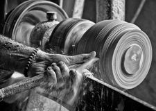 Alabaster lathe in medieval village of Volterra (Italy) Royalty Free Stock Image