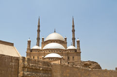Alabaster Mosque. Famous Alabaster Mosque in the Egyptian city of Cairo Royalty Free Stock Photo