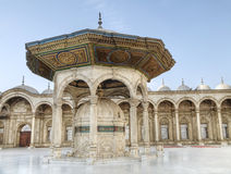 Alabaster Mosque. Courtyard of the Alabaster Mosque of Mohamed Ali in Cairo, Egypt Royalty Free Stock Photography
