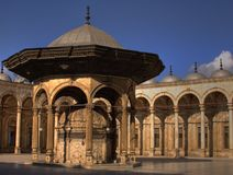 Alabaster Mosque. Courtyard Cairo Egypt royalty free stock photos