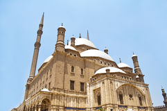 Alabaster Mosque in Cairo. Famous Alabaster Mosque in the Egyptian city of Cairo Stock Photos