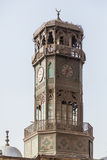 Alabaster Mosque Clocktower Cairo Egypt. Antique brass metal clock tower of Alabaster Mosque or Mosque of Muhammad Ali Pasha in the Citadel in Cairo Egypt Royalty Free Stock Photography