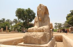 Alabaster Sphinx of Memphis. Royalty Free Stock Photos