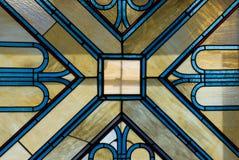 Alabaster window. Wonderful window-charge from alabaster in an old house in Gardone Riviera, Lake Garda, Italy Royalty Free Stock Image