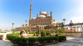 Alabastrowy meczet w Kair, piękny jarda widok zdjęcie royalty free