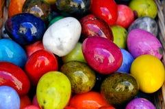 Alabastrum gekleurde eieren Stock Foto