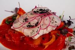 Alabote cozinhado dos peixes imagem de stock royalty free