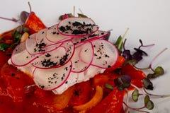 Alabote cozinhado dos peixes fotografia de stock royalty free