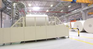 Alabugainstallatie, fabriek, papierfabricage, papierindustrie stock videobeelden