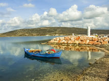 Alacati Beaches. Alacati is a town of Izmir District in Turkey and has beautiful beaches Royalty Free Stock Photography