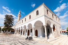 Alacati, Cesme. Alacati is populer holiday destination. Pazaryeri Mosque was converted a mosque from church Stock Images