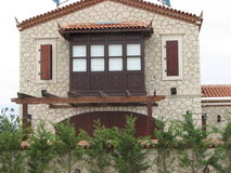 Alacati stone house Stock Photo