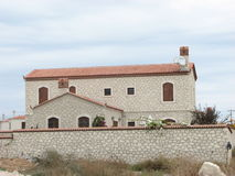 Alacati stone house Royalty Free Stock Photo