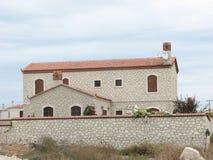 Alacati stone house Royalty Free Stock Photo