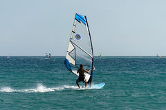 Alacati windsurf raj Zdjęcie Stock