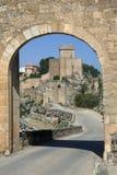 Alacon - La Mancha -西班牙 免版税库存图片