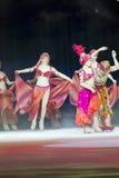 Aladdin łyżwiarki na lodzie Zdjęcia Royalty Free