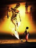 Aladdin και ο μαγικός λαμπτήρας Ελεύθερη απεικόνιση δικαιώματος