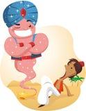 Aladdin и джины Стоковое Изображение