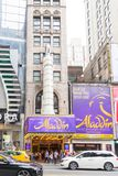Aladdin de Musical in New York stock foto