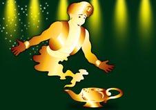 Aladdin e genii Fotografia Stock Libera da Diritti