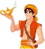 Aladdin e la lampada meravigliosa illustrazione di stock