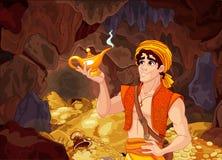 Aladdin et la lampe merveilleuse illustration libre de droits