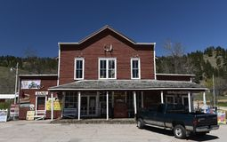 Aladdin General Store. This is a Spring picture of the Aladdin General Store located in Aladdin, Wyoming in Crook County.  This structure was designed by Amos Royalty Free Stock Photo