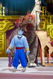 Aladdin Genie ed elefante fotografia stock libera da diritti