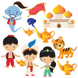 Aladdin lamp vector illustration stock image