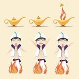 Aladdin lampa Obraz Stock