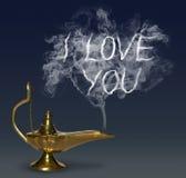 Aladdin& x27 ; lampe de magie de s Image libre de droits
