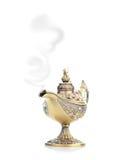 Aladdin magic lamp isolated on white Stock Photography