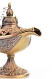 Aladdin magic lamp isolated on white Royalty Free Stock Image