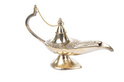 Aladdin magic lamp isolated on white Royalty Free Stock Images