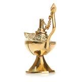 Aladdin magic lamp isolated on white Royalty Free Stock Photos