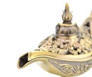 Aladdin magic lamp isolated on white Stock Images