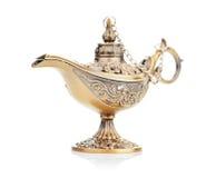 Aladdin magic lamp  on white Stock Photography